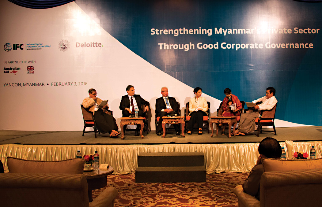 Corporate Governance Forum: Organized by IFC and the UMFCCI in Yangon, Myanmar in February. Chris Razook is pictured second from the left.