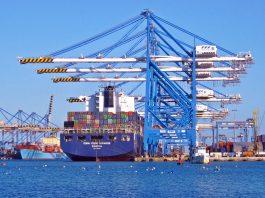Container Ship Dock Crane
