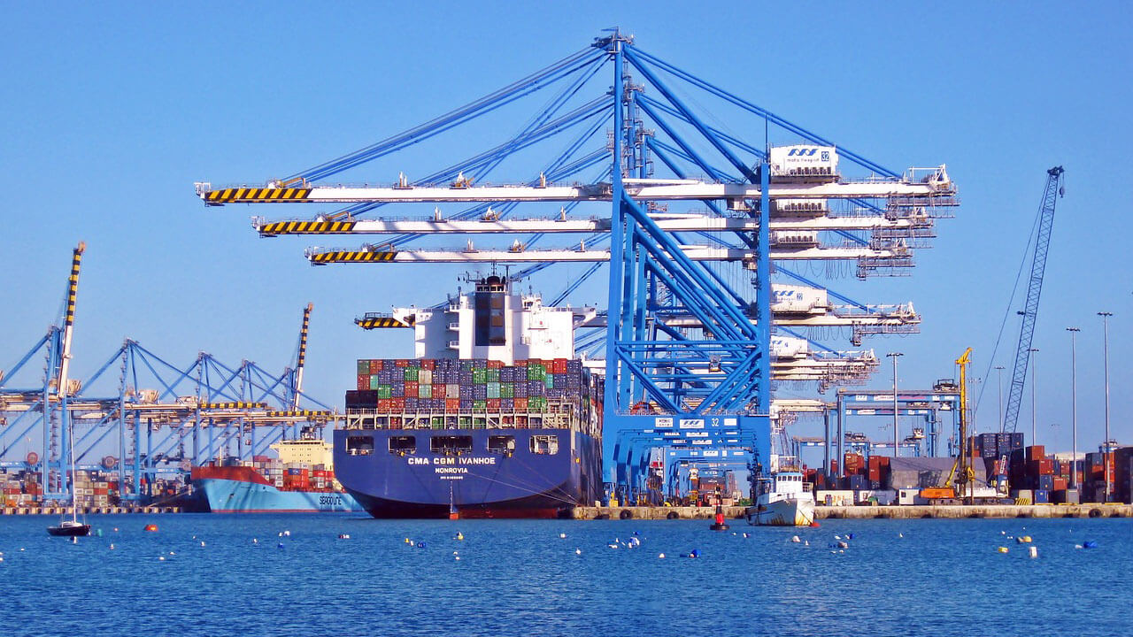 Container Ship Dock Crane
