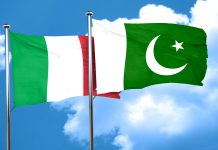 Italy Pakistan Flags
