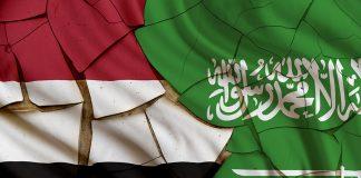 Yemen & Saudi Flags
