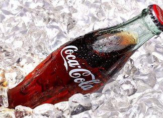 Coke bottle on ice