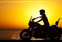Harley Davidson sunset