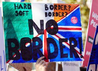 Irish Border Protest