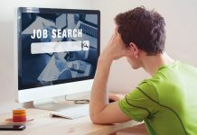 Man Computer Job Search