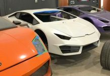 Fake supercar factory