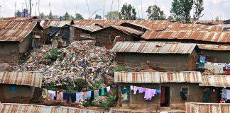 Kibera, Nairobi, Kenya, slums shanty town