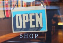 shop door, open sign