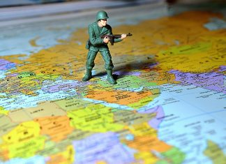 Toy Soldier in Middle East