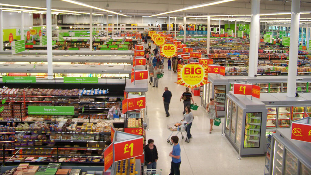 ASDA supermarket interior