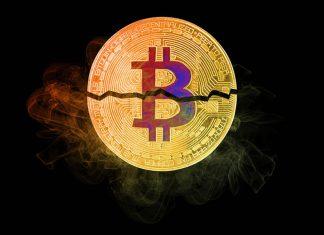 Bitcoin broken in half