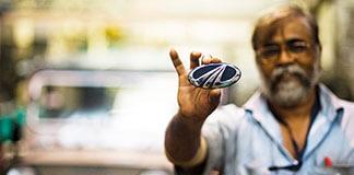 Mahindra car badge