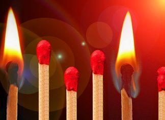 Matches burning, burnout