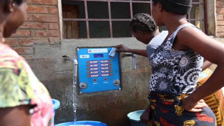 e-madzi kiosk in Lilongwe