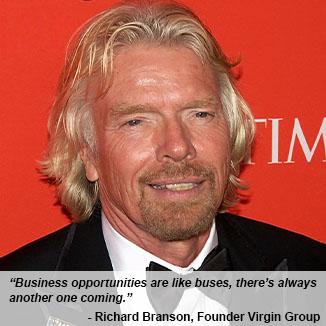 Quote: Richard Branson, Virgin Group