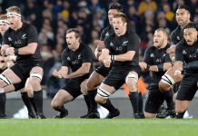 New Zealand All Blacks - pre-match haka challenge