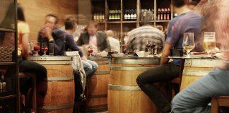 Bar, interior, people drinking