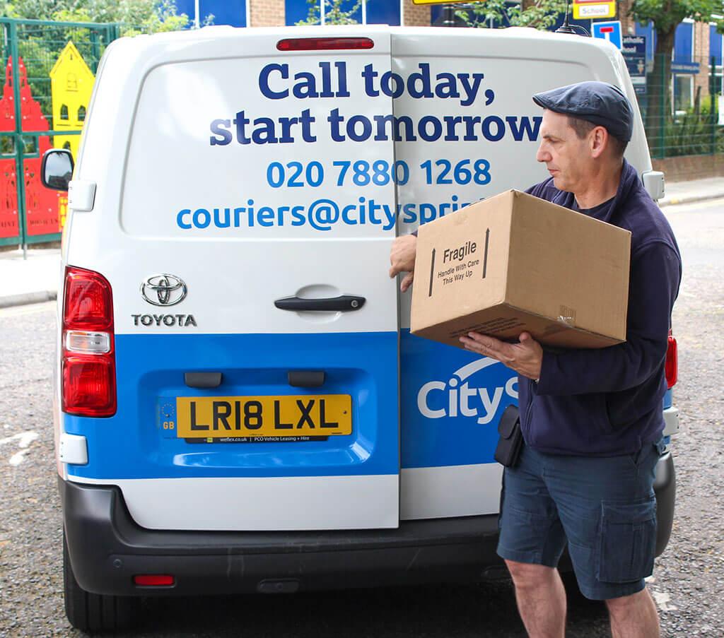 CitySprint van and courier