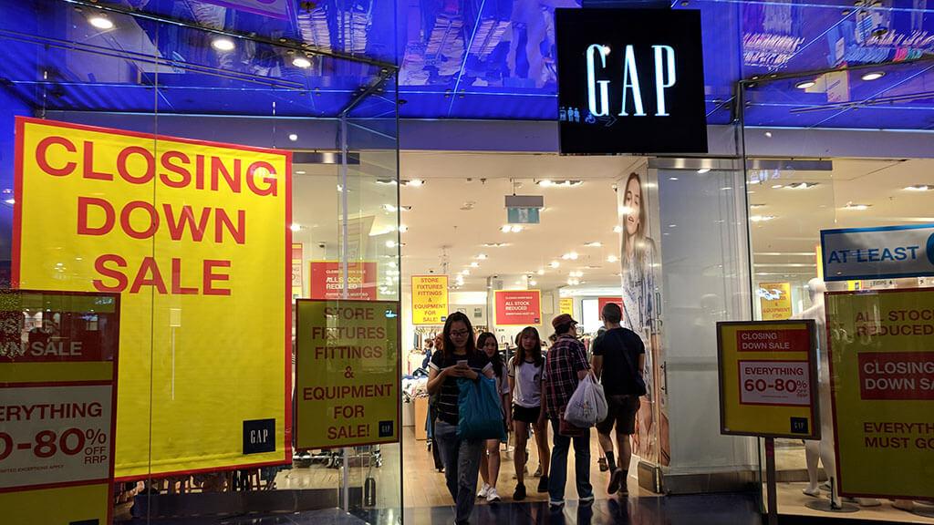 Gap store closing
