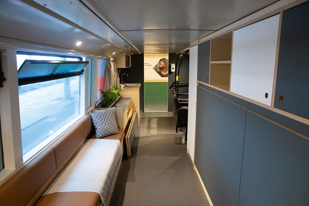 Driving For Change bus — interior
