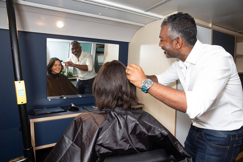 Free haircuts for homeless people in London
