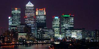 London, Canary Wharf, Night